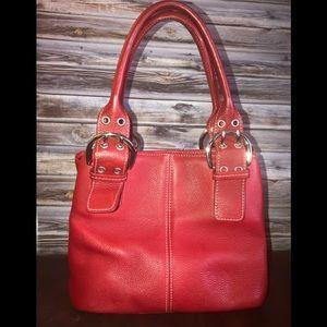 Tignanello red leather bag